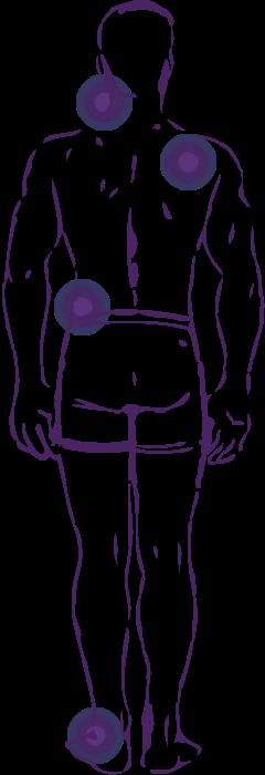 Точки на теле в которых возникают боли при болезни